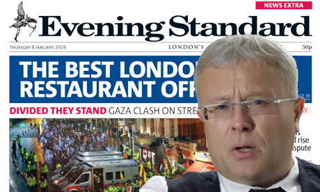 Alexander Lebedev and London Evening Standard montage