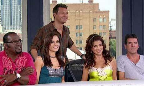 American Idol judges: Kara Dioguardi, Ryan Seacrest, Randy Jackson, Paula Abdul and Simon Cowell. Photograph: ITV