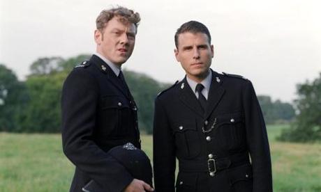 Mark Jordon as PC Phil Bellamy and Jason Durr as PC Mike Bradley in Heartbeat