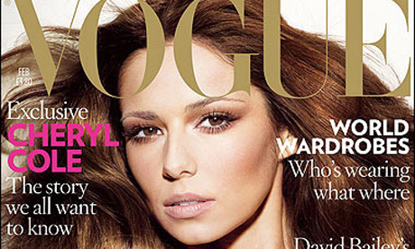 Cheryl Cole's appearance on the cover of Vogue has resulted in record sales