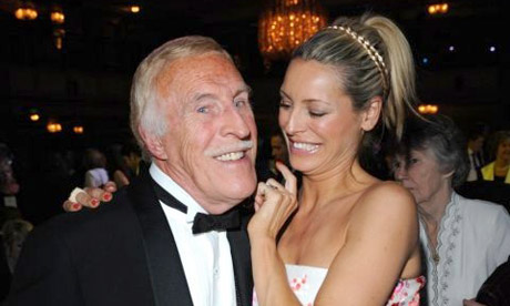 Bruce Forsyth and Tess Daly at the 2009 RTS awards
