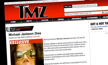Us based celebrity gossip website tmz news