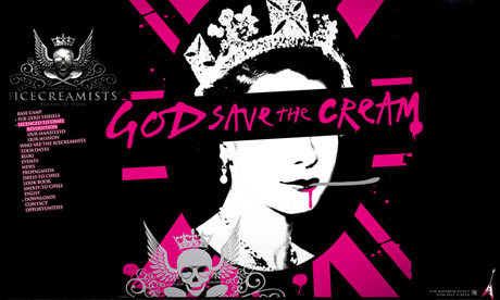 """God Save the Cream"" logo"