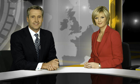 ITV News at Ten new set: Mark Austin and Julie Etchingham