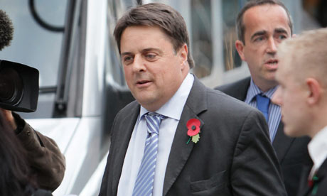 Nick Griffin arrives at BBC Television Centre