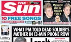 Sun front page - 8/11/2009
