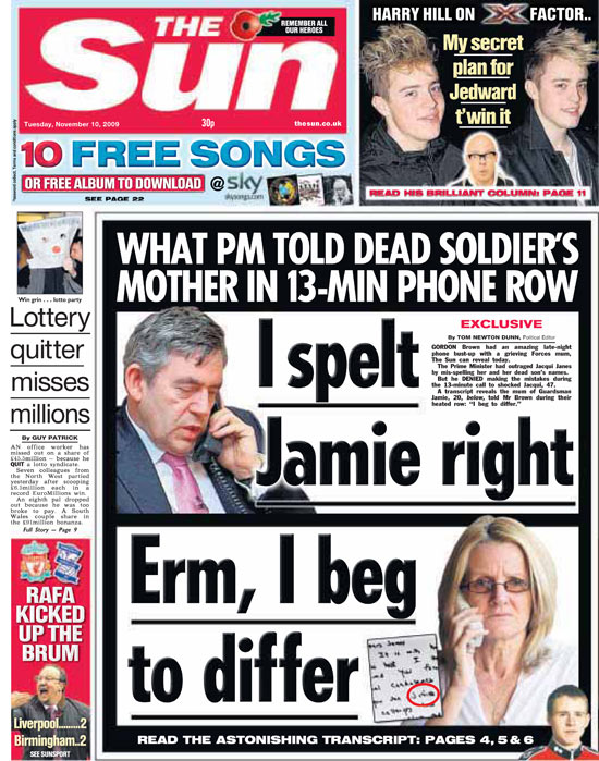 Roy greenslade the sun declares war on the prime minister media