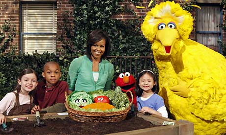 Michelle Obama on Sesame Street