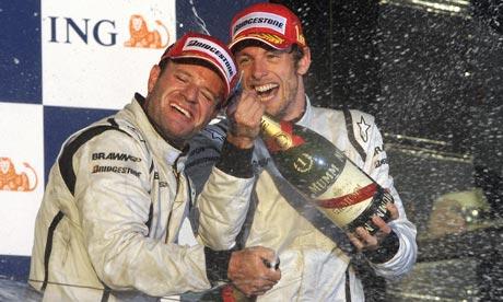 Australian  grand prix: Rubens Barrichello and Jenson Button