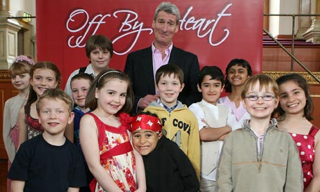 Off By Heart:  Jeremy Paxman with the finalists