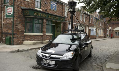 Google Street View car on Coronation Street
