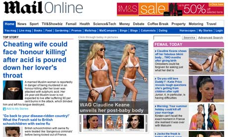 Mail Online July 2009