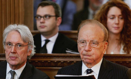 Les Hinton, Rupert Murdoch, Andy Coulson and Rebekah Wade