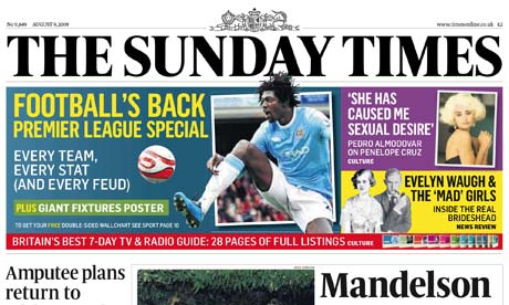 august abcs: sunday times sales rise again | media | the