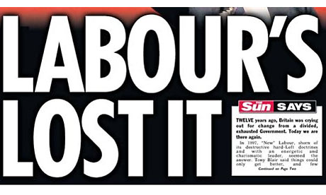 The Sun 'Labour's Lost It' front page
