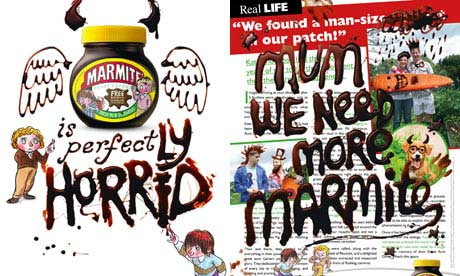Press adverts for Marmite How the Marmite ads appear in magazines.