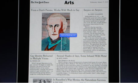 iPad new york times arts