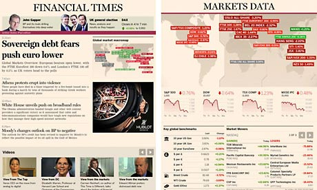 Financial Times ipad app