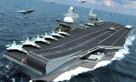 Computer image of proposed Royal Navy aircraft carrier