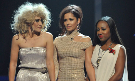 The X Factor 2010: Katie Waissel, Cheryl Cole and Treyc Cohen
