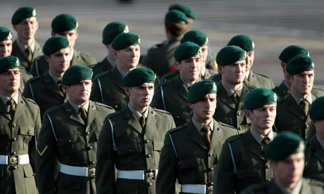 Troops from 40 Commando after return from Afghanistan