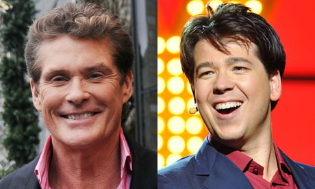 Havid Hasselhoff and Michael McIntyre