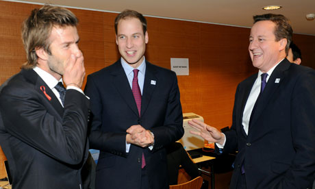 David Beckham, Prince William and David Cameron in Zurich to support England's World Cup bid