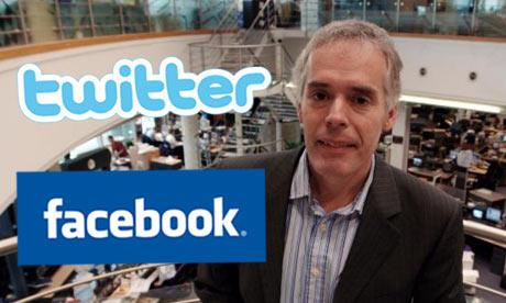 Horrocks: backing Facebook and Twitter. Photograph: Martin Godwin