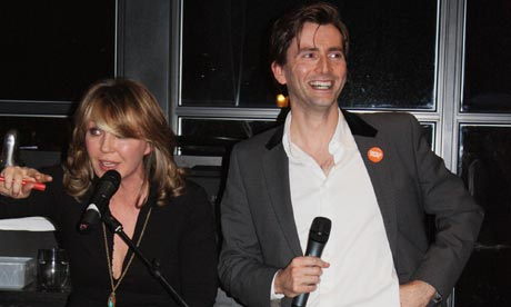 Kirsty Young and David Tennant at Centrepoint charity quiz