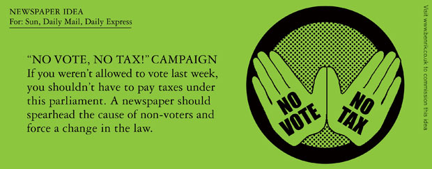 NO VOTE, NO TAX ! Campaign