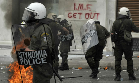 Riot police, Athens, 5 May 2010