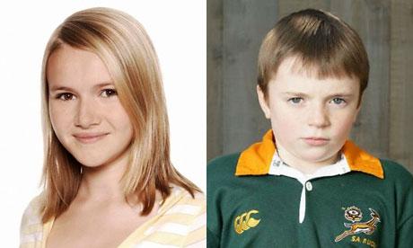 EastEnders: Melissa Suffield and Charlie Jones
