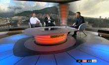 World Cup 2010: the BBC studio