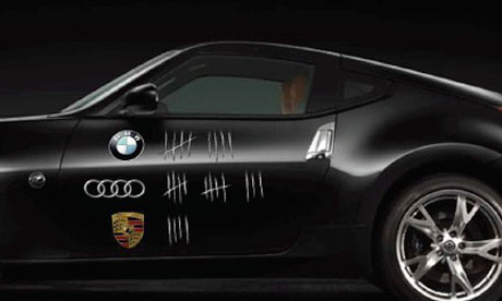 Porsche And Nissan Clash Over German Baiting Guerrilla Ad