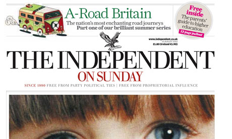 The Independent on Sunday 14 August 2010