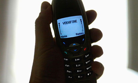 2002-era handset with Vodafone