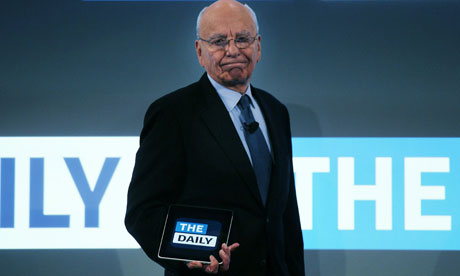 Rupert Murdoch launches the Daily