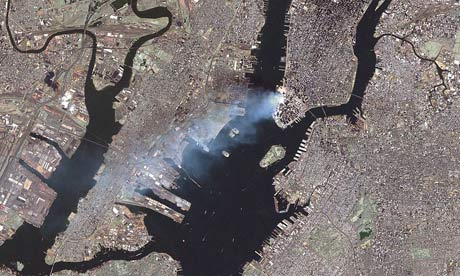 A Landsat 7 satellite image of Washington, DC
