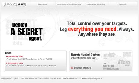 Hacking Team website