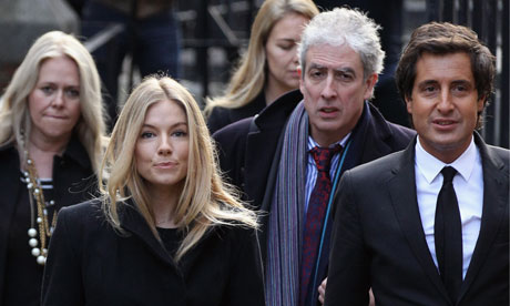Leveson inquiry: Sienna Miller and David Sherborne arrive