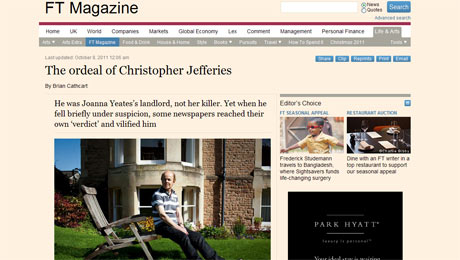 Financial Times interview with Chris Jefferies