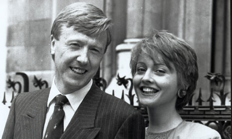 Anne Diamond with her husband Mike Hollingsworth in 1989
