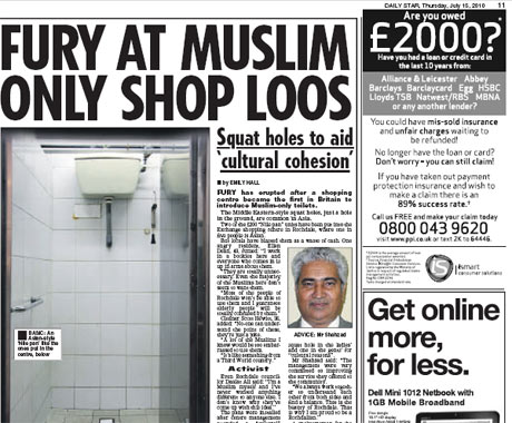 Daily Star 'Muslim loos' story