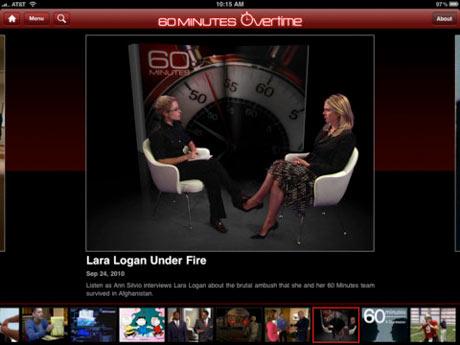 CBS's 60 Minutes iPad app