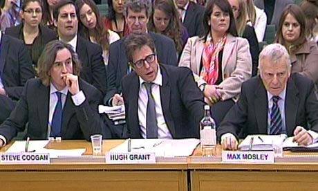 Steve Coogan, Hugh Grant and Max Mosley
