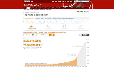 BBC 'The world at seven billion' story