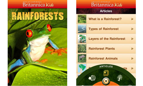 Britannica Kids Rainfores 007 Best iPhone Apps For Kids