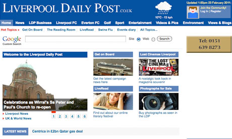 regional abcs july december 2010 liverpool daily post slows circulation fall media the