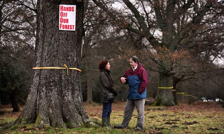 Jonathon Porritt and Baroness Royall in the Forest of Dean