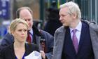 Julian Assange and lawyer Jennifer Robinson